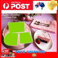 3 Dough Icing Fondant Scraper Cake Décor Plain Smooth Jagged Edge Spatula Smart