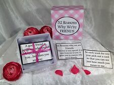 Special Friend Gift ~ 52 Reasons Why We're Friends - gift that lasts for 1year