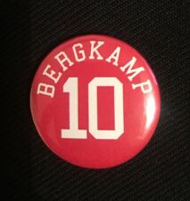 "Bergkamp 10 Badge 25mm 1"" Pin Arsenal Legend Football (Discount Available)"