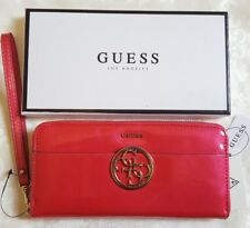 Guess Kamryn RED pink COSMO 4G logo wallet clutch purse zip around gift idea £45