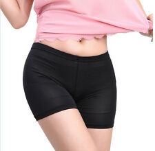 Women Lady Pants Safety Shorts Leggings Yoga Seamless Basic Plain black