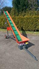 Förderband Gurtförderer f. Scheitholz Brennholz 5m robust 30cm Gummigurt