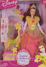 NEW DISNEY PRINCESS BEAUTY AND THE BEAST BELLE DOLL & VANITY GIFT SET #B2472