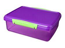 Sistema Pranzo Box 2 L Assortiti colori ftalato e privo di BPA facile clip di bloccaggio