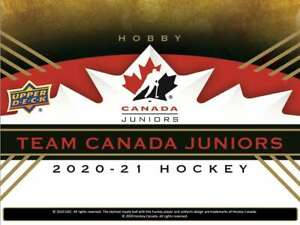 2020-21 Upper Deck Team Canada Juniors U-Pick Base/ Exclusive/ Jersey/ POE
