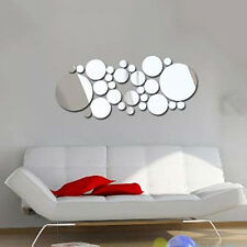 Removable Round Mirror Style Art Wall Stickers Decal Trendy Home Mural CSA33