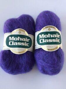 Lot of 2 Berroco Mohair Classic - Purple