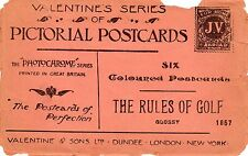 RULES OF GOLF: Set of six postcards by Crombie (C3629).
