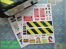 Ghostbusters ( Spirit Halloween Ghost Trap ) up grade Stickers/W 00004000 ater Slide