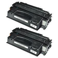 2 Pack Black Toner Cartridge For Q7553X 53X HP LaserJet P2015 P2015dn M2727 MFP