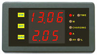 Battery Monitor DC 120V 30A Dual Voltmeter Ammeter Car Auto Voltage Gauge Meter