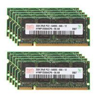 Hynix 20GB 10X 2GB PC2-6400S RAM DDR2 800Mhz 200Pin SODIMM Laptop Memory PC6400