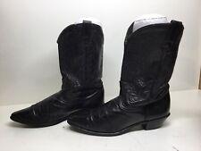 WOMENS ACME COWBOY BLACK BOOTS SIZE 10 M