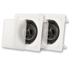 "Acoustic Audio CSi63S In Wall / Ceiling 6.5"" Speaker Pair 3 Way Home Theater"