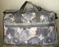 NWT LeSportsac LARGE WEEKENDER BAG tote duffel All A Flutter Grey Pink $118