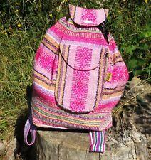 mexikanischer Festival Rucksack  Ethno Azteken lässig Hippie Boho gewebt pink