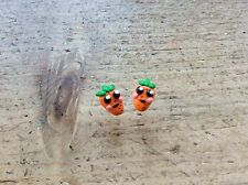 Carrot Earrings Studs Handmade Cute Retro Cool Birthday Gift Party