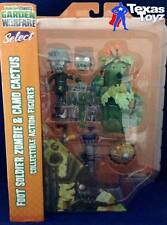 Plants vs Zombies Garden Warfare Soldier Zombie & Ghillie Cactus 5in Figure 2pk