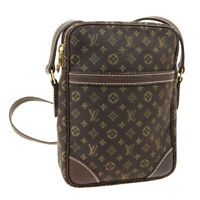 LOUIS VUITTON DANUBE SHOULDER BAG TH1077 MONOGRAM MINI LIN M95228 AUTH AK45454