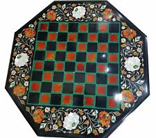 2'x2' Marble Coffee side chess Table Top Inlay For Home Decor and Gift 1