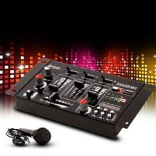 4 Kanal DJ Mischpult Mikrofon Party Equipment Audio Sound Effekt Big Light