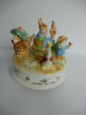 1993 Schmid Music Box Celebrating 100 Years Of Peter Rabbit Beautiful Morning