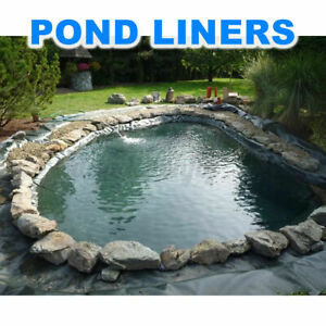 13X13ft Black Durable Fish Pool Pond Liner Membrane Reinforced Gardens Pool US