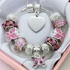 ENGRAVED Jewellery Pink Bracelet Girls Personalised Gifts Birthday Christmas