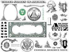 One Dollar Bill Design Images Photoshop Transparent File PNG Graphics Vignette
