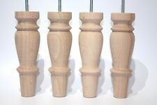 4 x wooden furniture legs/feet for chair,sofas,footstools,settees M8, new design