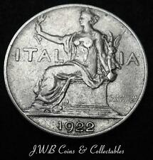 1922 Italy One Lira Coin