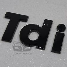 LAND ROVER DISCOVERY 2 DEFENDER COUNTY 90 110 GLOSS BLACK 3D TDI WING BACK BADGE