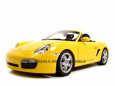 PORSCHE BOXSTER S CONVERTIBLE YELLOW  1/18 DIECAST MODEL CAR BY WELLY 18005