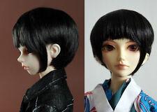 "1/4 bjd 7-8"" doll wig black short synthetic mohair dollfie luts Iplehouse W-191M"