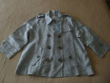 "LAST CHANCE! NWT TRENERY/COUNTRY ROAD ""Short Trench"" Linen Jacket -18Aus 16/18UK"