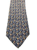 Ermenegildo Zegna Mens Tie Necktie 100% Silk Made in Italy Multi Color