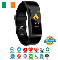 Orologio Smart Fitness Tracker Fit Bluetooth Step Caolorie Sport per Android Ios