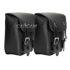 2x PU Leather Side Saddle Bag for Honda GL Goldwing 1100 1200 1500 1800 500 650