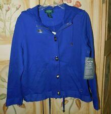 Lauren Ralph Lauren Royal Blue Hoodie Jacket NEW $99 Petite Small