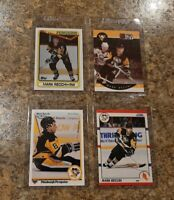 (4) 1990-91 Mark Recchi Upper Topps Score Pro rookie card lot RC Penguins HOF