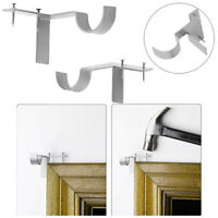 1 Pair Hang Curtain Rod Holders Tap Right Window Frame Curtain Rod Bracket
