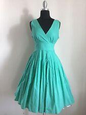 "50s Vtg Style ""Aqua"" Pinup Swing Twirl Skirt Dress Size Small"