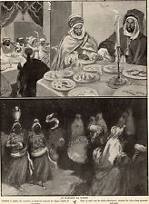IMAGE 1911 PRINT MAROC MOROCCO MARIAGE DANSE WEDDING DANCE