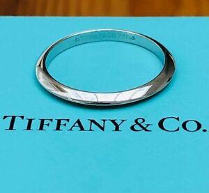 Tiffany & Co. 2mm Platinum Knife Edge Wedding Ring Band