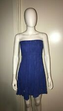 NIGHTCAP Free People Anthropologie blue Victorian lace boho dress 2 XS S