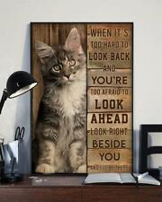 Maine coon cat look beside you cat lovers club wooden wall decor vertical poster