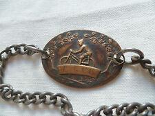 Gourmette insigne 1939/1940 bracelet 4° GCC GROUPE CHASSEURS CYCLISTES ORIGINAL