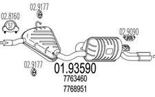 MTS Silencioso posterior FIAT BARCHETTA 01.93590