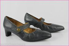 Escarpins Trotteurs HASLEY Made in France Cuir Gris Bleu T 39,5 TBE