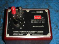 CORNELL-DUBILIER ELECTRONICS DIVISION DECADE CAPACITOR MODEL CDC 3 MICROFARADS